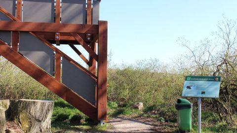 """Neue Aussichtsplattform """"zum Adlerhorst"""" - Fußweg Richtung Poppentin (Kirch Poppentin)"""
