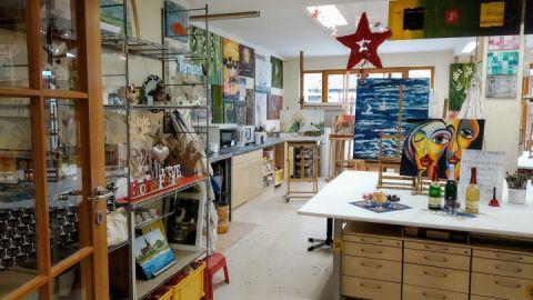 Lieblingsplatz Atelier: Einfachmalerisch / Land Fleesensee