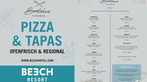 """TAPAS & PIZZA - BEECH Resort """"Bootshus"""""""